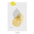 Plakat - LOVELY DROPS YELLOW