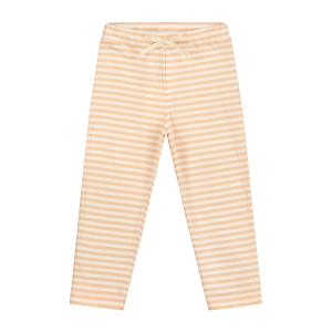 Spodnie - RELAXED JERSEY PANT POP/WHITE STRIPE