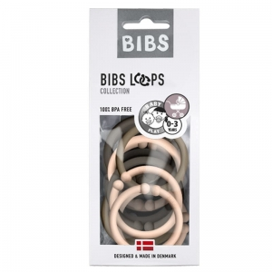 LOOPS 12 szt - CHOCOLATE / BLUSH / DARK OAK