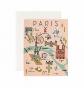 Kartka z kopertą - PARIS MAP -20%