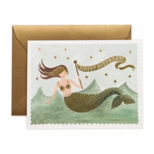 Kartka z kopertą - VINTAGE MERMAID BIRTHDAY