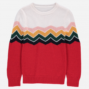 Sweter - ZIGZAG RED -70%