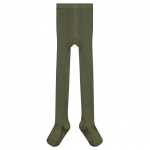 Rajstopy - RIBBED TIGHTS MOSS