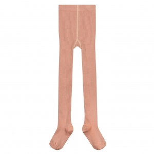 Rajstopy - RIBBED TIGHTS RUSTIC CLAY