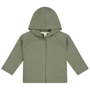 Bluza - RELAXED HOODED CARDIGAN MOSS
