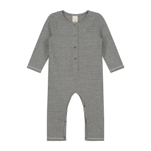 Kombinezon niemowlęcy - BABY L/S PLAYSUIT NEARLY BLACK/CREAM
