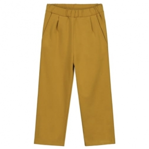 Spodnie - RELAXED PLEATED MUSTARD
