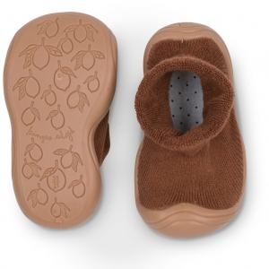 Kapcie - SOCK SLIPPERS ALMOND