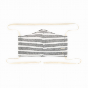 Maseczka - FACE MASK GREY MELANGE/OFF WHITE