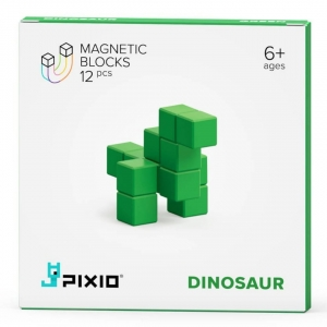 Klocki Pixio 12 Green DINOSAUR - COLOR SERIES