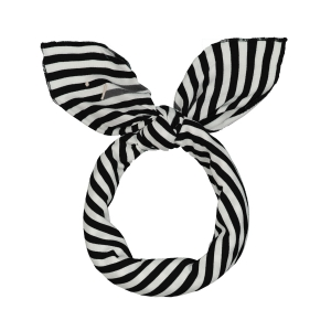 Bandana 55x55cm - HEAD SCARF NEARLY BLACK/OFF WHITE