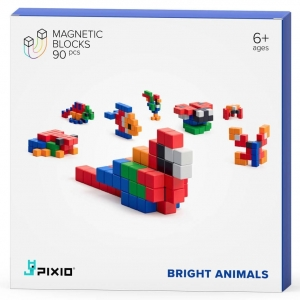 Klocki Pixio 90 Mini BRIGHT ANIMALS - STORY SERIES
