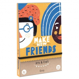 Gra z naklejkami 4+ - MAKE NEW FRIENDS