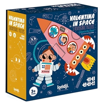 Puzzle progresywne - VALENTINA in SPACE